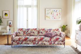 Leaf Studio Day Sofa Slipcover by Liberty For Anthropologie Geo Paradise Garden Angelina Sofa