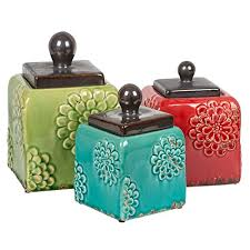Savannah Turquoise Kitchen Canister Set by Poppies Kitchen Canister Set Home Decor Pinterest Kitchen