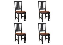 stuhl sheesham 45x45x98 schwarz lackiert new boston 120 4er set