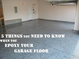 things you need to when epoxy your garage floor with new