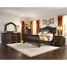 A R T Furniture Valencia Leather Upholstered Sleigh Bed
