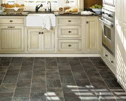 white kitchen cabinets with floors tile or hardwood in