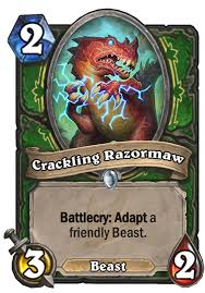 Hunter Hearthstone Deck Kft by Crackling Razormaw Hearthstone Card