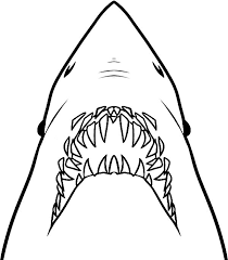 Jaws Ready To Ripped Out Coloring Pages