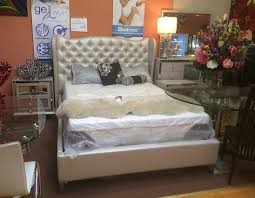 Hollywood Loft Frost Bed by AICO