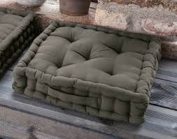 boden kissen grau 40x40 x 8 cm baumwolle stuhl matratzen sitz lounge polster