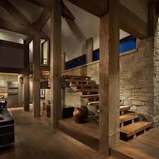 100 Locati Architects Contemporary Rocky Mountain Retreat Inner Stairway