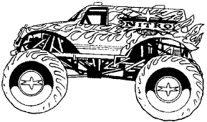 100 Monster Truck Drawing Jam Grave Digger Coloring Pages Elegant At