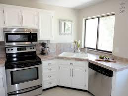 Corner Kitchen Cabinet Ideas by Kitchen Large White Self Rimming Corner Kitchen Sink With White