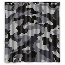 Army Camo Bathroom Set by Amazon Com Relax Black Gray White Camo Camouflage Army Waterproof