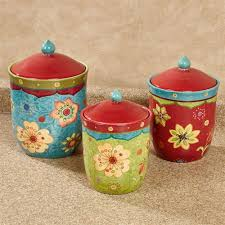 tunisian sunset colorful kitchen canister set