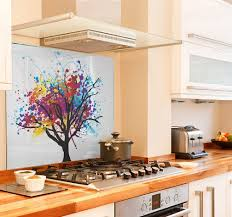 Rainbow Tree Diy Kitchen Glass Splashback
