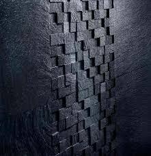 Black Wall Tile Cement Plain 3d
