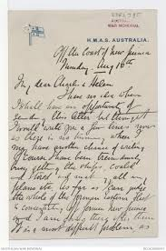Letters From George Edwin Patey To His Family 1914 The Australian