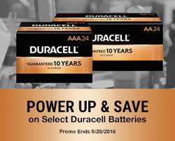 POWER UP AND SAVE On Select Duracell Batteries