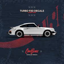 Porsche 930 Turbo Script Body Decals Livery Pack CarBonepl