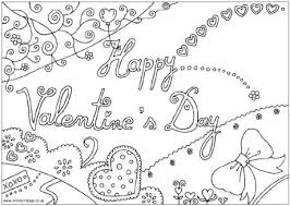 Happy Valentines Day Colouring Page