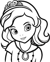 Princess Sofia Coloring Pages To Print Printable The First Free Large Size