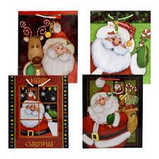 Christmas House Large Whimsical Santa Gift Bags