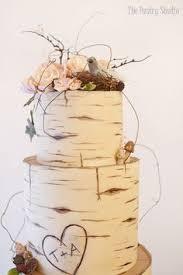 Birch Wood Wedding Cake Custom Designed By The Pastry Studio