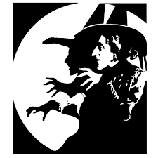 Pumpkin Carving Witch Face Template by Wicked Witch 4x4 Inch Laser Cut Stencil Www Etsy Com Shop