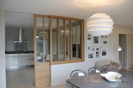 cuisine ouverte sur salle a manger une cuisine ouverte avec porte coulissante vitrée