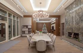 Large 10 Person Dining Room Table In Formal Luxury Home