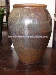 Rustic Glazed Outdoor Ceramic Flower Garden Planters And Pots