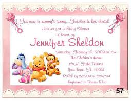 Baby Shower Cards Samples by Winnie The Pooh Baby Shower Invitations Themesflip Com