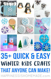 35 Quick And Easy Winter Kids Crafts That