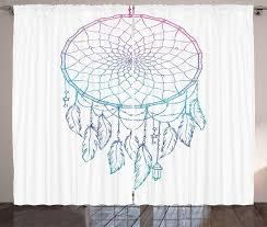 gardine schlafzimmer kräuselband vorhang mit schlaufen und haken abakuhaus bohemien traumfänger sterne federn kaufen otto