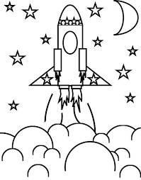 Free Printable Space Coloring Pages Rocket Ship And The Stars Download Print Online