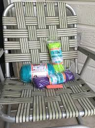 How To Macrame A Vintage Lawn Chair | How-tos | DIY Stylish Collection Of Outdoor Chaise Lounge Chairs Sling Pair Of Lawn By Telescope Fniture Company For Sale At 1stdibs A Guide To Buying Vintage Patio Design Costco Beach Inspiring Fabric Sheet Chair Cheap Find Deals On Line Rejuvenate Metal 12 Steps With Pictures Table Clearance Big Home Depot Macram Blue White Retro Antique Knitted Bean Bag 56 Gliders 1000 Ideas About Details About 2 Vintage Sunbeam Matching Alinum Folding Webbed