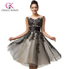 grace karin cap sleeve gray elegant short prom dress cl007581