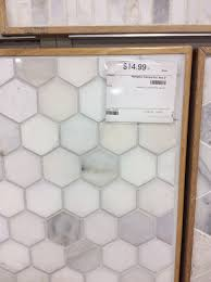 2 hex hton carrara marble for the floor from the tile shop
