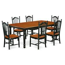 East West Furniture DOVE7-BCH-W 7-Piece Table And Chair Set With One Dover  Dining Room Table And 6 Dining Room Chairs In A Black And Cherry Finish, ... Kitchen Ding Room Fniture Scdinavian Designs Cape Cod Lawrence Dark Cherry Extension Table W6 Tom Seely Solid W 6 Chairs Sets And Chair Dock86 Universal Upscale Consignment 26 Big Small With Bench Seating 2019 Gently Used Ethan Allen Up To 50 Off At Chairish East West Nido6bchw Pc Ding Room Set Bkitchen Tables 4 Plus Bench In Black Cherryfinishblack And Cm88 Roccommunity Steve Silver Tournament Arm Casters Set Of 2 Oval American Drew Cherry 7 Pieces Used Leaf Finish Glass Top Modern Woptional Items
