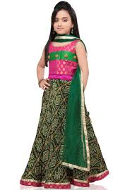 Little Girls Kids Sharara Lehenga Choli 2015 Indian Designs