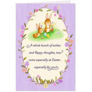 Bunnies Painting Easter Eggs Easter Cards, Pack of 6