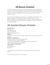 Gallery Of Human Resource Executive Resumes Hr Assistant Resume ...