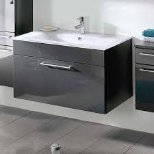 möbel set für das badezimmer zenvis in grau mit weiß 4 teilig