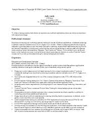 Software Testing Resume Samples Trainer Sample Technical Examples S