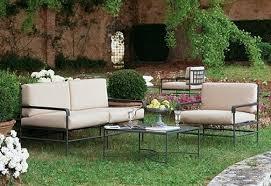 canape mobilier de salon de jardin en fer forge en promotion pas cher