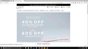 Loft Coupon Code 2018 : Coach Factory Online Coupon November ... Ann Taylor Coupon Code September 2019 Loft Online Free Shipping Always Coupons December 2018 Turkey Trot Minneapolis Promo Target Dog Food 15 Off 75 Or More 12219 The Gateway Center Brooklyn How To Maximize Your Savings At Loft Slickdeals Womens Clothing Petites Drses Pants Shirts Cares Card Taylor Sydneys Fashion Diary Stackable Codes Www Loft Com New Deals 50 Everything Free Shipping Is Salt Water Taffy Made Adore Hair Studio