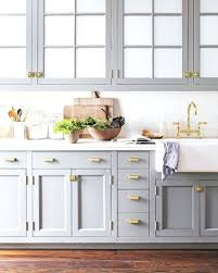 unlacquered brass cabinet hardware gray kitchen cabinets with