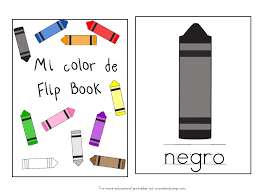 Printable Halloween Books For Preschoolers by Teach Colors To Kids In Spanish