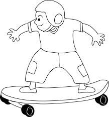 Gallery For Kid Skateboarding Drawing Clip Art Image 19793