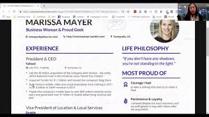 Is Marissa Mayer's Resume Impressive? - YouTube 87 Marissa Mayers Resume Mayer Free Simple Elon Musk 23 Sample Template Word Unique How To Use Design Your Like In Real Time Youtube 97 Meyer Yahoo Ceo Best Of Photos 20 Diocesisdemonteriaorg The Reason Why Everyone Love Information Elegant Strengths For Awesome Chic It 2013 For In Amit Chambials Review Of Maker By Mockrabbit Product Hunt 8 Examples Printable Border Patrol Agent Example Icu Rn