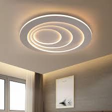 kreative led deckenleuchte rund für wohnzimmer in weiß