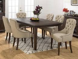 Elegant Dining Room Sets With Upholstered Chairs Within Nailhead Chair Table Wilson Home Ideas How To Make