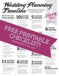 Awesome Free Printable Wedding Planning Timeline Download PDF Here